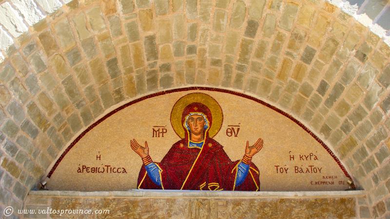 η εικόνα της Παναγίας στην είσοδο στην Μονή Ρέθα